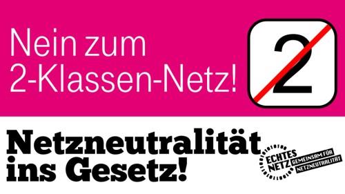 Netzneutralität ins Gesetz